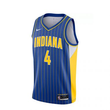 NIKE MEN'S INDIANA PACERS VICTOR OLADIPO 2020-21 CITY EDITION JERSEY - ROYAL